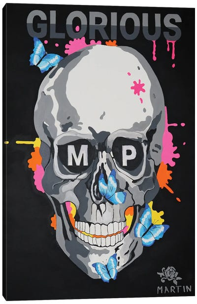 Glorious MP Skull Canvas Art Print
