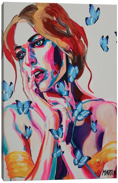 Woman With Butterflies Canvas Art Print