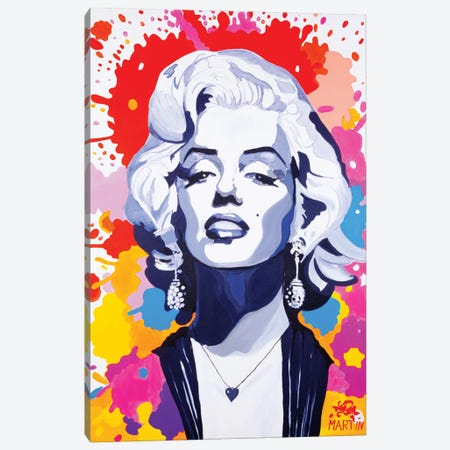 Marilyn Monroe III Canvas Print #PEM84} by Peter Martin Art Print