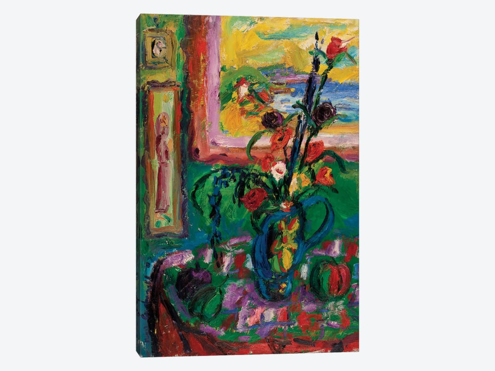 The Decorated Vase by Peris Carbonell 1-piece Canvas Art Print