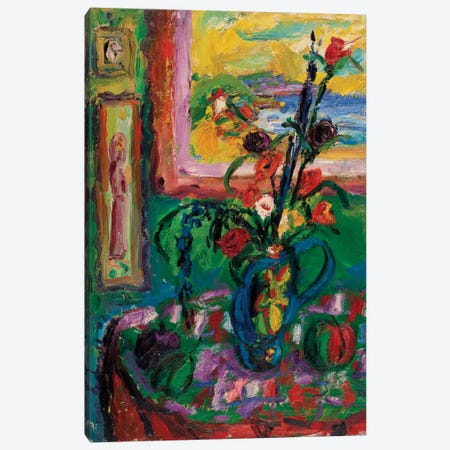 The Decorated Vase Canvas Print #PER25} by Peris Carbonell Canvas Artwork