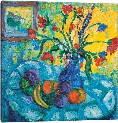 The Blue Tablecloth Canvas Print #PER26
