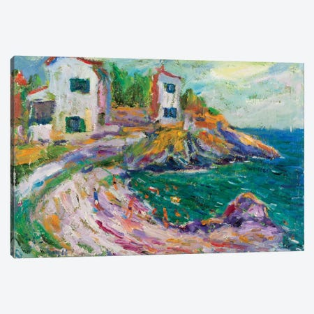 Beach Of Cadaques, Spain Canvas Print #PER27} by Peris Carbonell Canvas Artwork