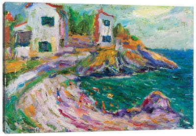 Beach Of Cadaques, Spain Canvas Print #PER27