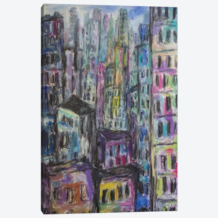 Manhattan Canvas Print #PER28} by Peris Carbonell Canvas Art Print