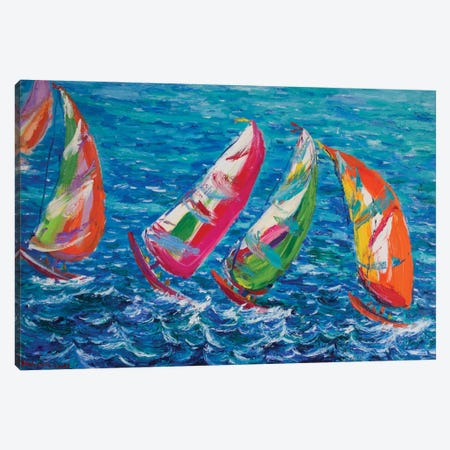 The America`s Cup, Vale Canvas Print #PER29} by Peris Carbonell Canvas Print