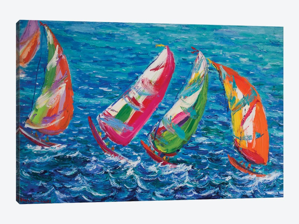 The America`s Cup, Vale by Peris Carbonell 1-piece Canvas Art Print