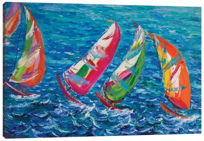 The America`s Cup, Vale Canvas Art Print