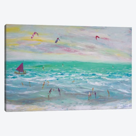 Cumbuco Beach, Brazil Canvas Print #PER30} by Peris Carbonell Canvas Wall Art