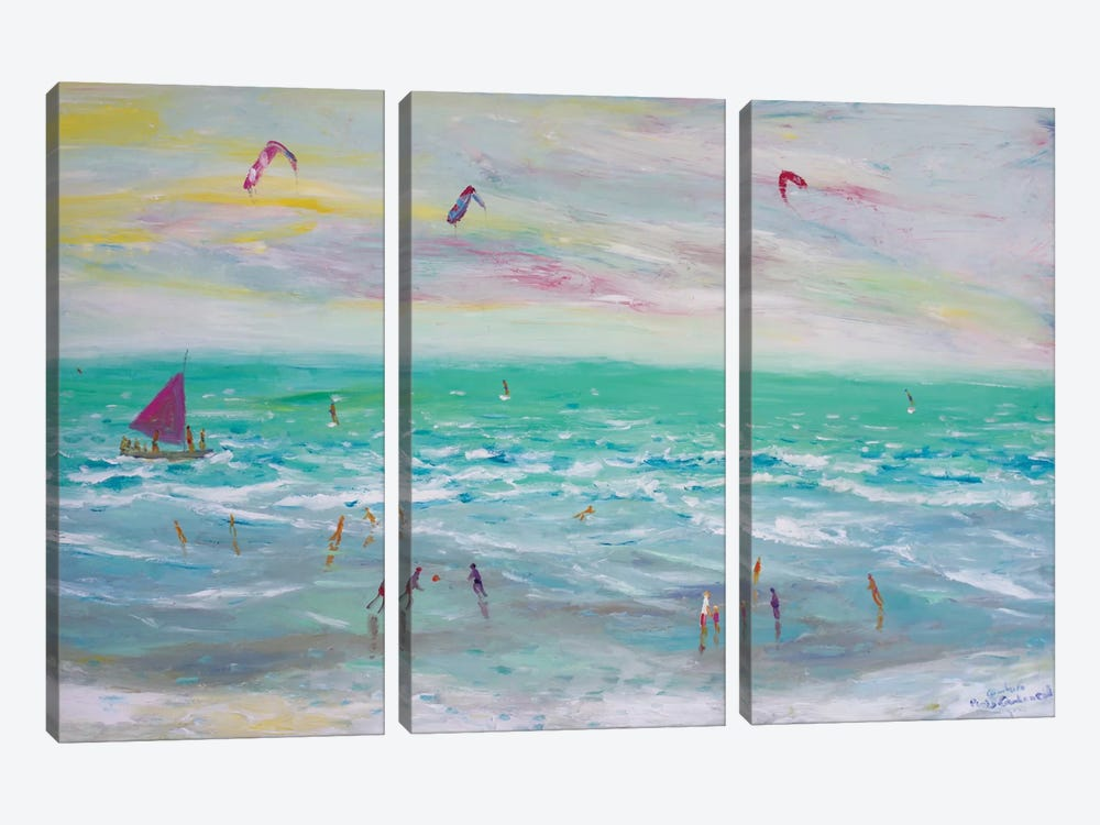 Cumbuco Beach, Brazil 3-piece Canvas Print
