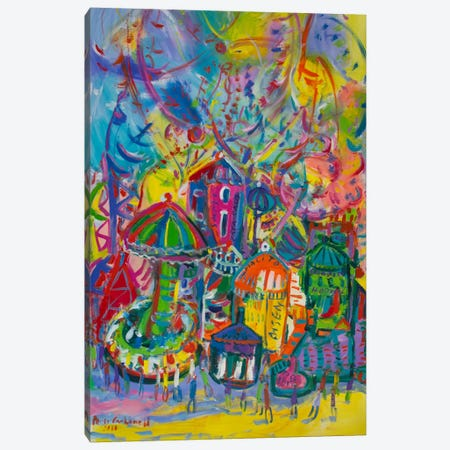 Amusement Park Canvas Print #PER31} by Peris Carbonell Canvas Artwork