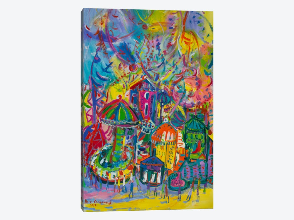 Amusement Park by Peris Carbonell 1-piece Canvas Wall Art