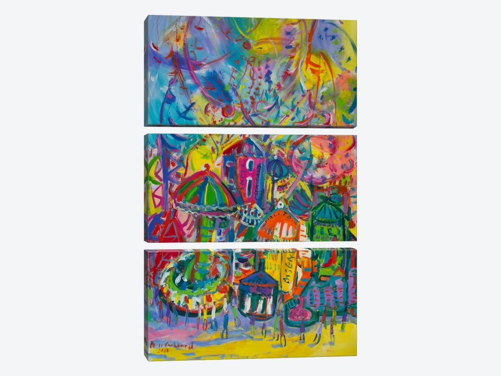 Amusement Park by Peris Carbonell 3-piece Canvas Art