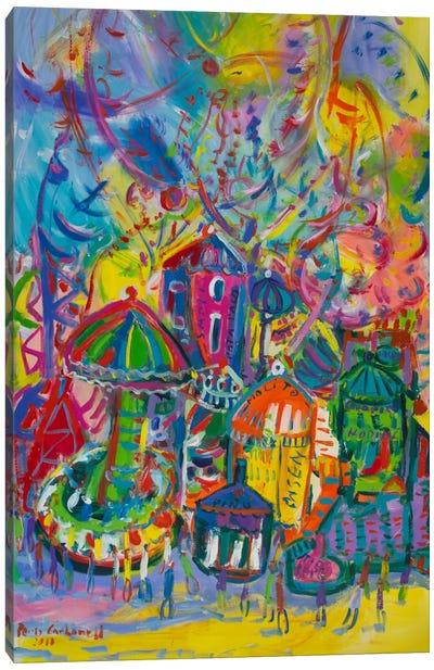Amusement Park Canvas Art Print