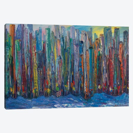 New York City Canvas Print #PER32} by Peris Carbonell Canvas Wall Art