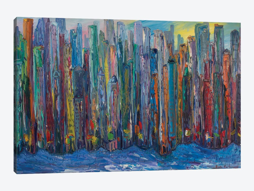 New York City by Peris Carbonell 1-piece Canvas Print