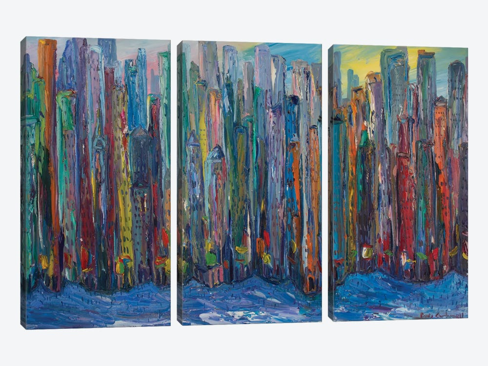New York City by Peris Carbonell 3-piece Canvas Art Print