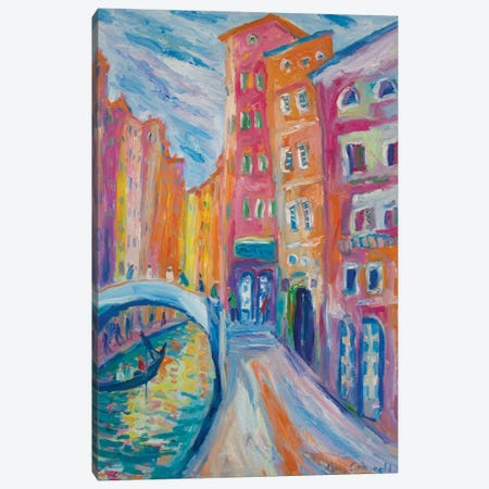 Rio di Palazzo, Venice, Canvas Print #PER33} by Peris Carbonell Canvas Wall Art