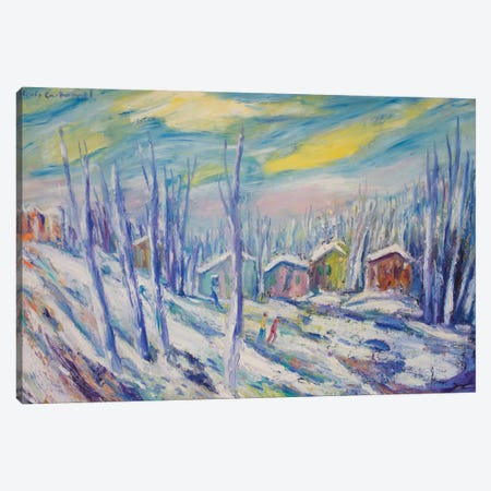 Winter Landscape Canvas Print #PER34} by Peris Carbonell Canvas Art Print