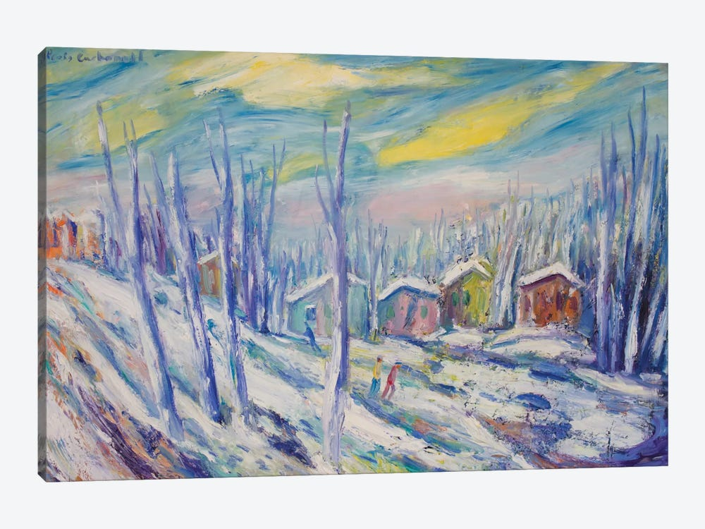 Winter Landscape by Peris Carbonell 1-piece Canvas Print