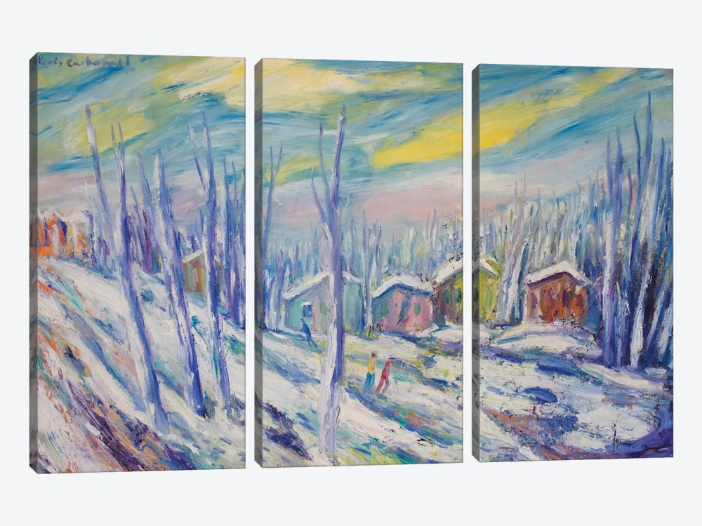 Winter Landscape by Peris Carbonell 3-piece Canvas Art Print