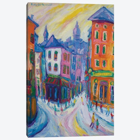 Montmartre, Paris Canvas Print #PER36} by Peris Carbonell Art Print