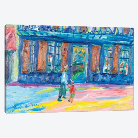 Le Procope, Paris Canvas Print #PER40} by Peris Carbonell Art Print