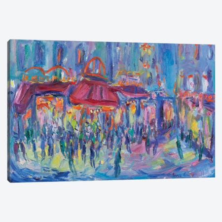 Nocturne, Paris Canvas Print #PER41} by Peris Carbonell Art Print