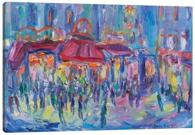 Nocturne, Paris Canvas Art Print