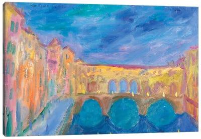 Evening In The Ponte Vecchio Canvas Print #PER42