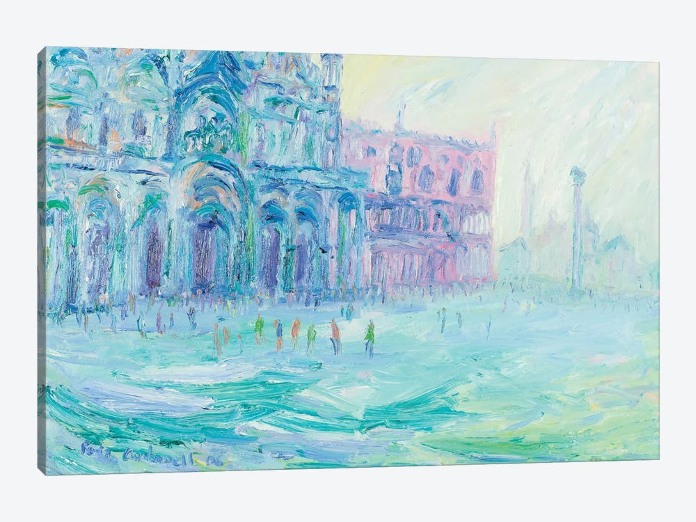 Basilica Of San Marco And Palazzo Ducale, Venice 1-piece Canvas Print