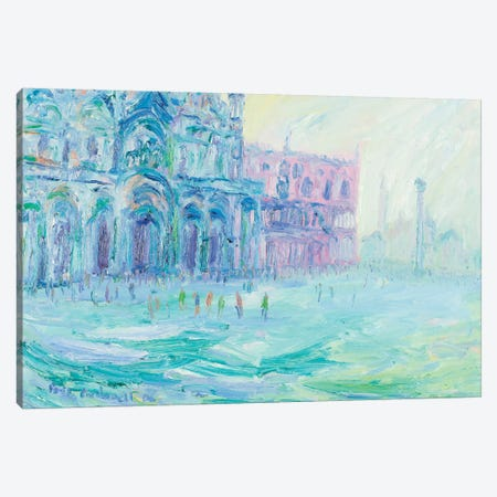 Basilica Of San Marco And Palazzo Ducale, Venice Canvas Print #PER43} by Peris Carbonell Art Print