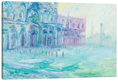 Basilica Of San Marco And Palazzo Ducale, Venice Canvas Art Print