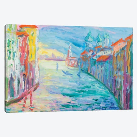 The Grand Canal, Venice Canvas Print #PER44} by Peris Carbonell Canvas Wall Art