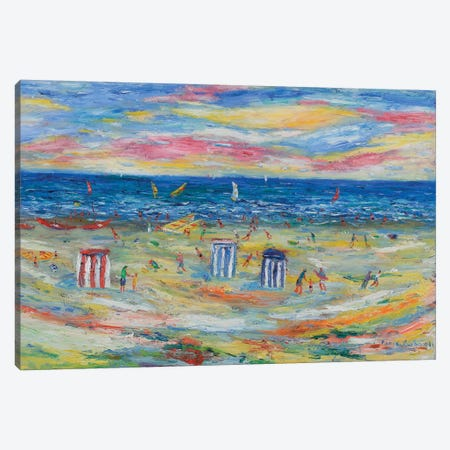The Beach Houses Canvas Print #PER51} by Peris Carbonell Canvas Art