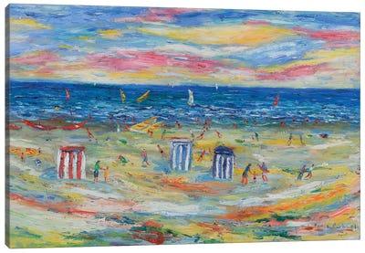 The Beach Houses Canvas Art Print
