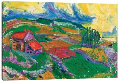 Yellow Sky Canvas Art Print