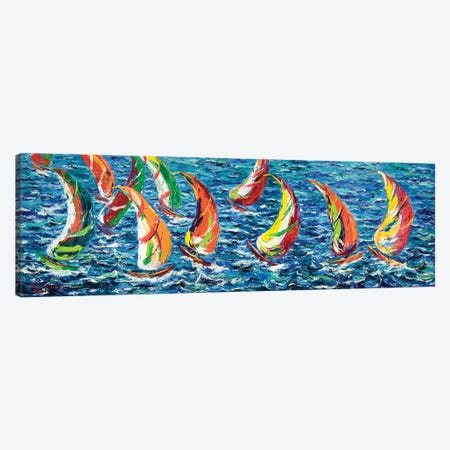 Race Of The America´s Cup Canvas Print #PER53} by Peris Carbonell Canvas Art