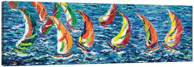 Race Of The America´s Cup Canvas Art Print
