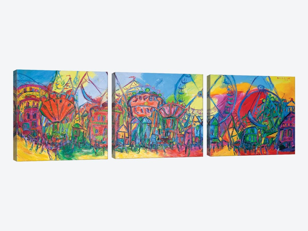 The Fair Of Valencia, Spain by Peris Carbonell 3-piece Canvas Artwork
