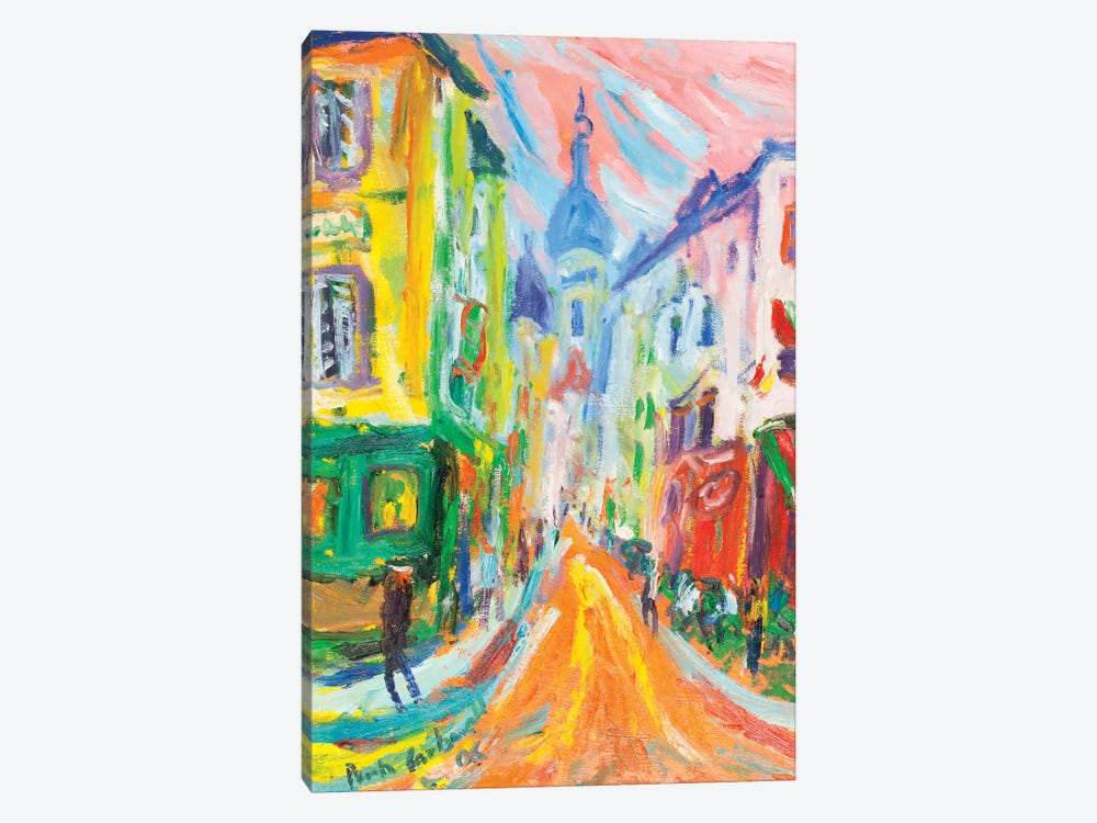 Montmartre And La Sacre Coeur, Paris by Peris Carbonell 1-piece Canvas Print