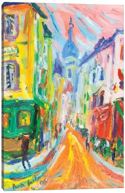 Montmartre And La Sacre Coeur, Paris Canvas Art Print