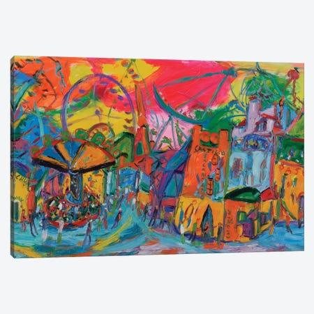 Fair Wheel Canvas Print #PER57} by Peris Carbonell Canvas Print