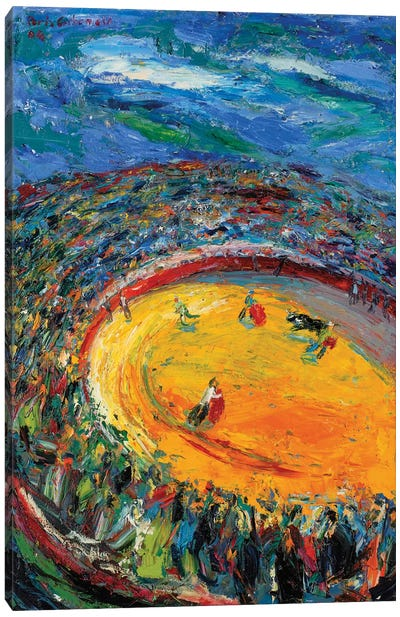 Afternoon In A Bullfight Canvas Print #PER59