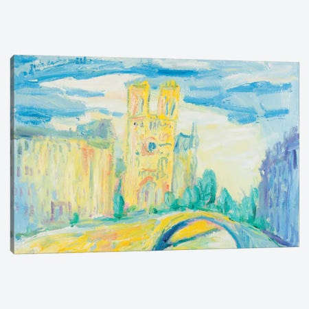 Notre Dame At Noon, Paris Canvas Print #PER63} by Peris Carbonell Art Print