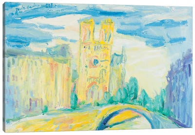 Notre Dame At Noon, Paris Canvas Print #PER63