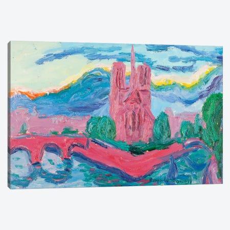 Sunset On The Seine, Paris Canvas Print #PER64} by Peris Carbonell Canvas Art
