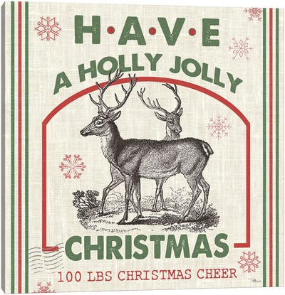 Have A Holly Jolly Christmas I Canvas Art Print