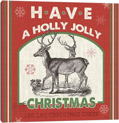 Have A Holly Jolly Christmas II Canvas Art Print