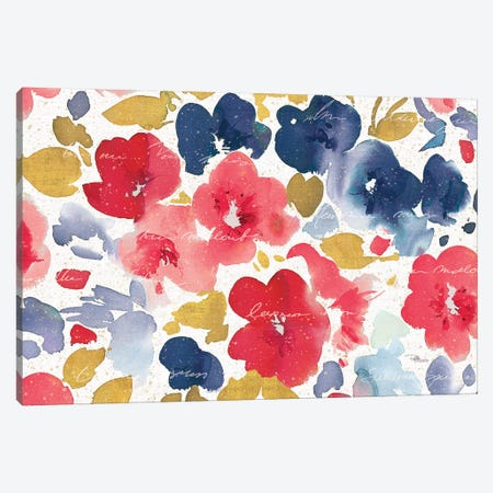Floral Flow I Canvas Print #PES18} by Pela Studio Art Print